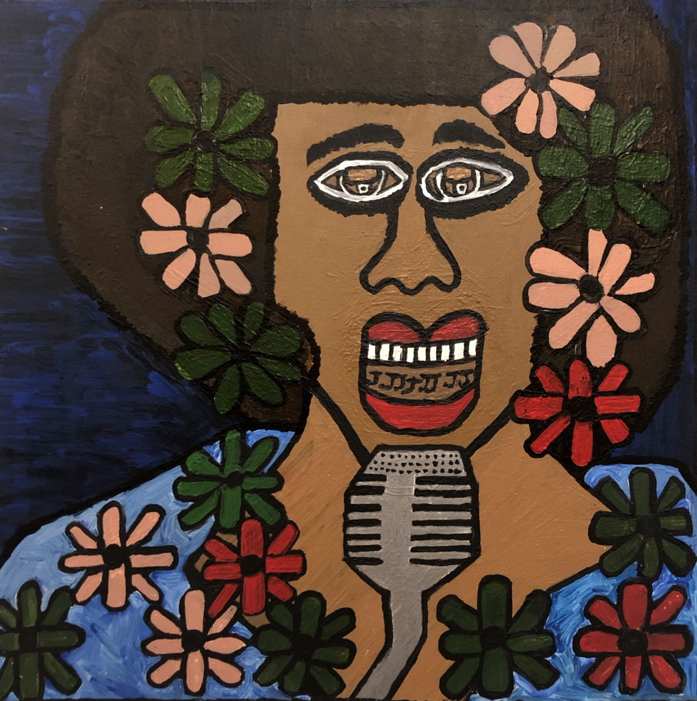 Billie Holiday As Lady Day - acrylic on canvas - 24 x 24