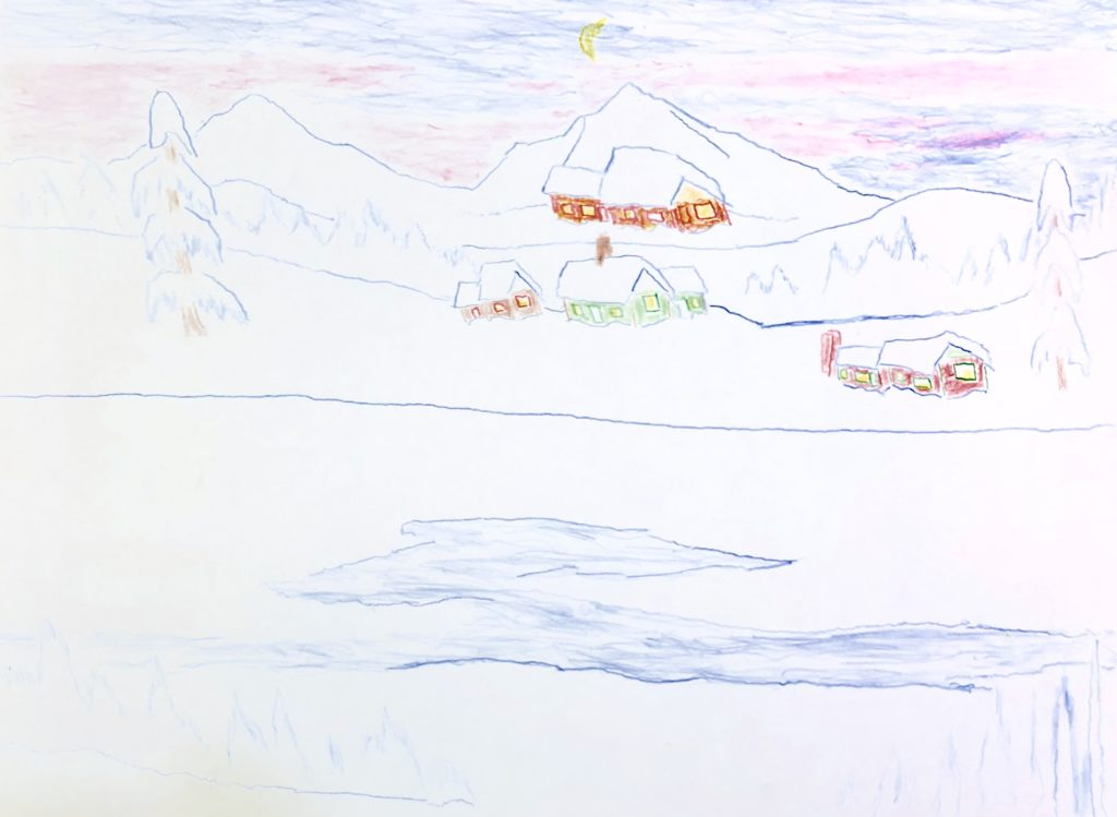 Winter - Colored Pencil on Paper - 8 x 10