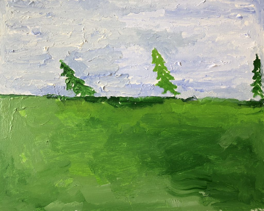 Blue Skies - acrylic on canvas - 16 x 20
