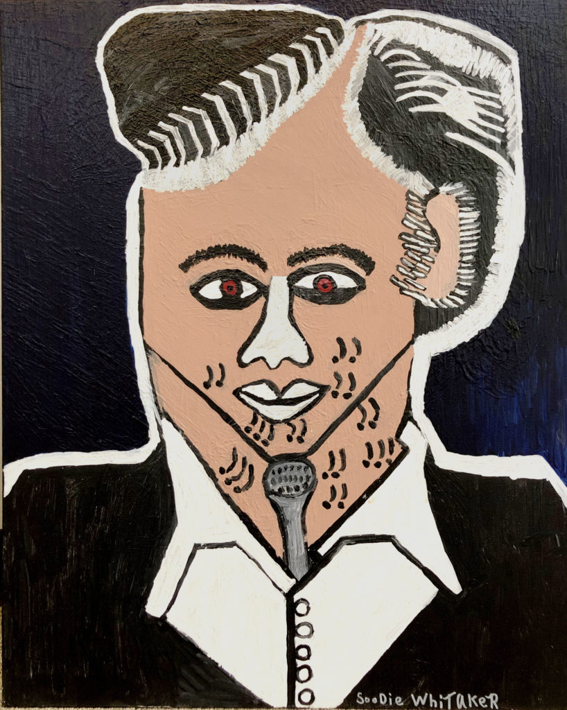 Johnny Cash - acrylic on canvas - 24 x 36