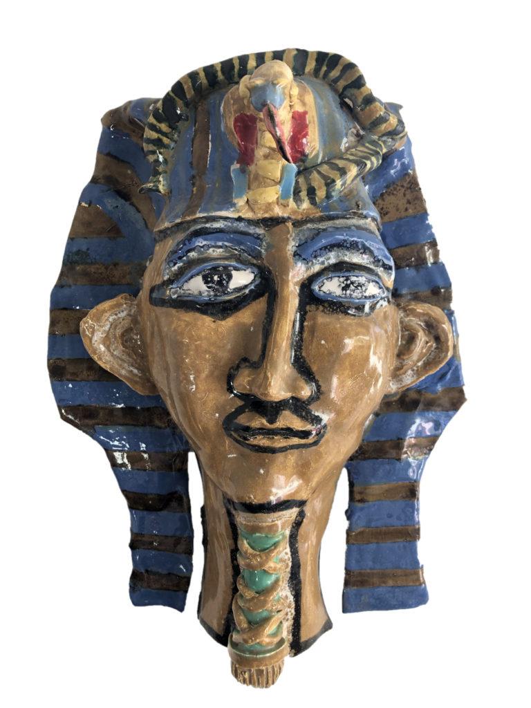 King Tut - ceramic - 12 x 15 x 6