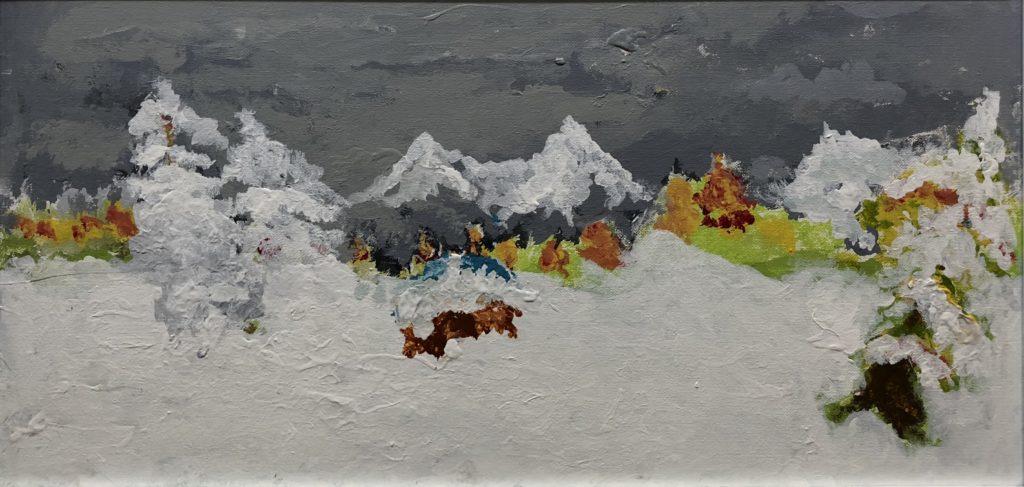 Winter - acrylic on canvas - 12 x 24